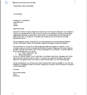 Employee Farewell Letter Template