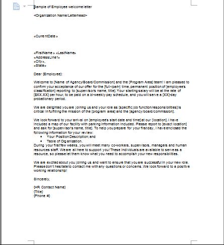employee farewell letter template